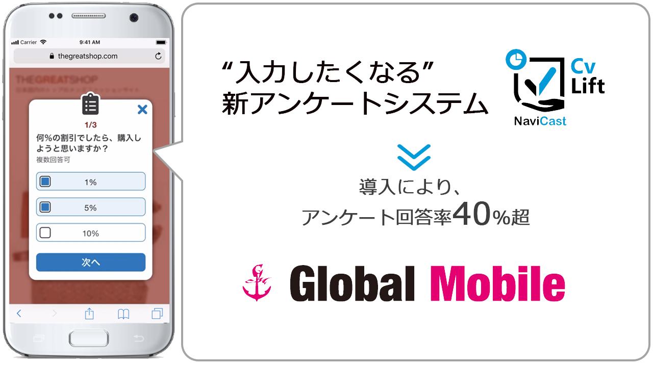 入力したくなる新アンケートシステム「CVリフト」導入事例GlobalMobile